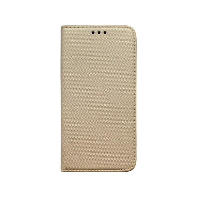 Knižkový obal Xiaomi RedMi Note 8 Pro zlatý vzorovaný