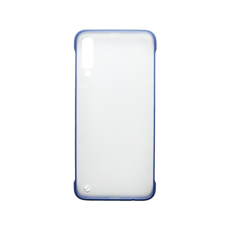 Plastové puzdro Frameless Samsung Galaxy A70 tmavomodré