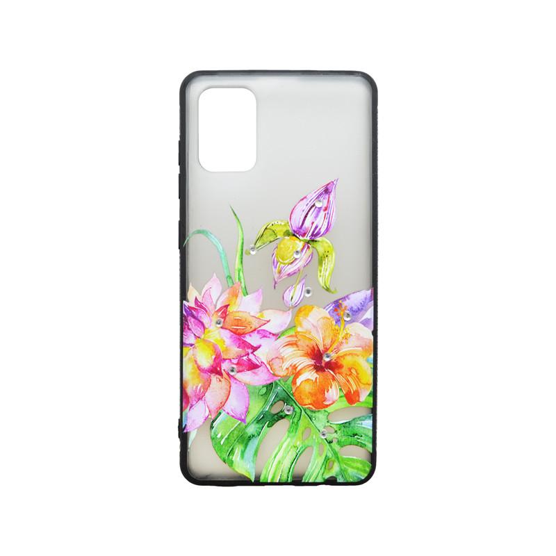 Plastové puzdro Samsung Galaxy A71 kvetinový vzor 2