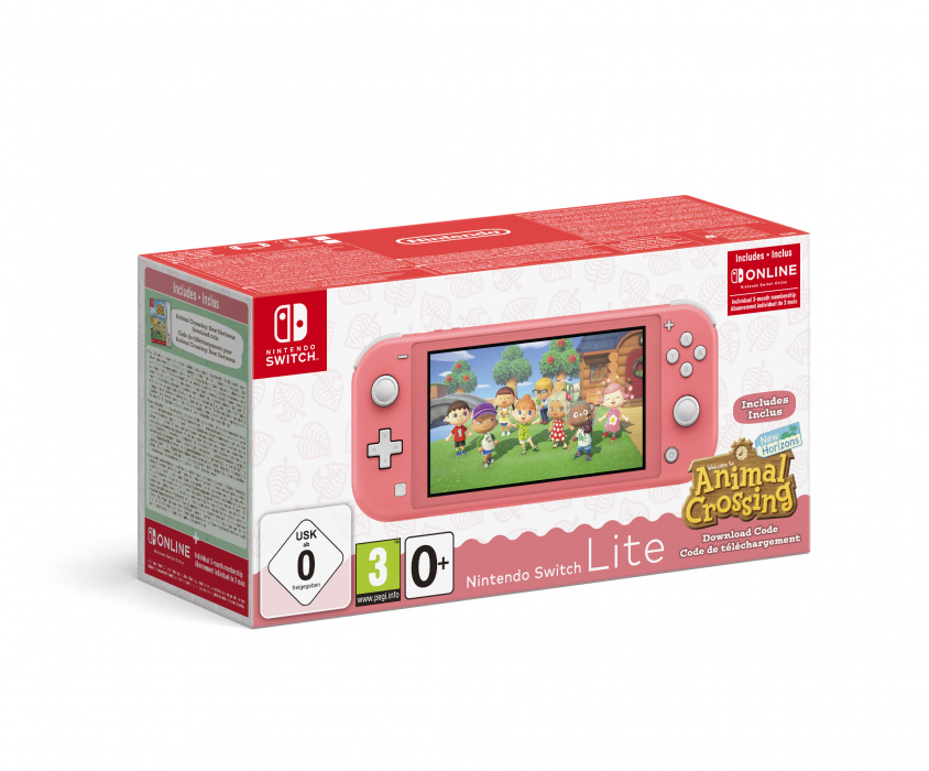 NINTENDO SWITCH LITE CORALANIMAL CROSSING:NEW HORIZONSNSO 3 MONTH