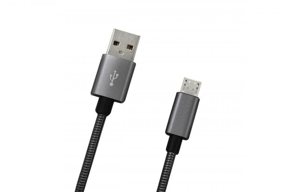 MOBILNET KAB-0094-USB-MICRO MICROUSB SIVY 1M DATA KABEL 2A (E)