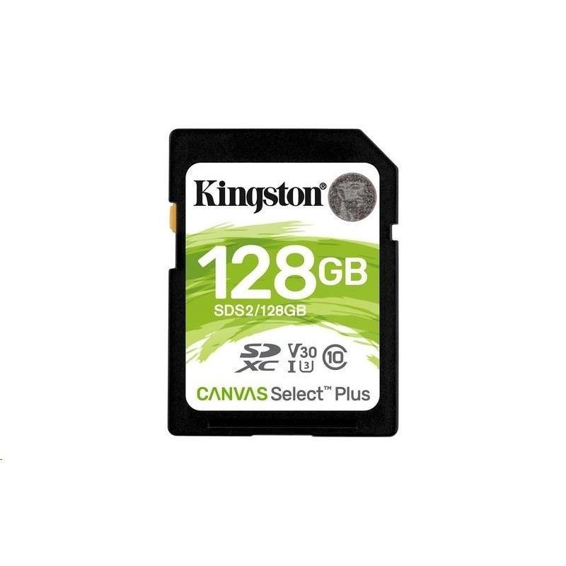 KINGSTON 128GB SDXC U3 V30 CL10 100MB/S SDS2/128GB