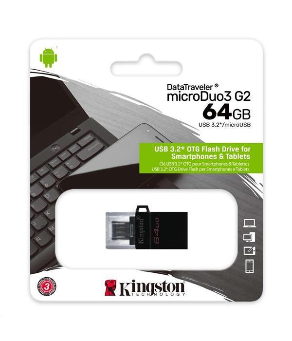 KINGSTON 32GB DT DUO USB 3.2 GEN 1+ TYPE-C DTDE/32GB