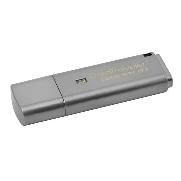 KINGSTON DATATRAVELER LOCKER+ G3 8GB USB 3.0, 100 HW SIFROVANIE, KOVOVY