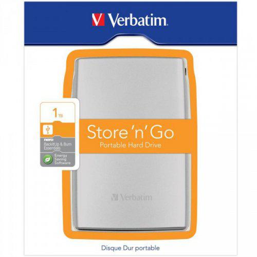 "VERBATIM HDD 2.5"",1TB,USB 3.0,SILVER 53071"