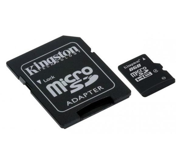 KINGSTON MICRO SDHC 8GB CLASS 4+ADAPTER SDC4/8GB