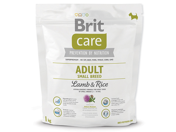 BRIT CARE ADULT SMALL BREED LAMB & RICE 1 KG (294-132708)