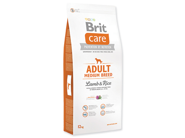 BRIT CARE ADULT MEDIUM BREED LAMB & RICE 12 KG (294-132709)