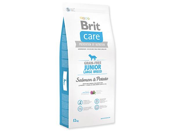 BRIT CARE GRAIN-FREE JUNIOR LARGE BREED SALMON & POTATO 12 KG (294-132721)