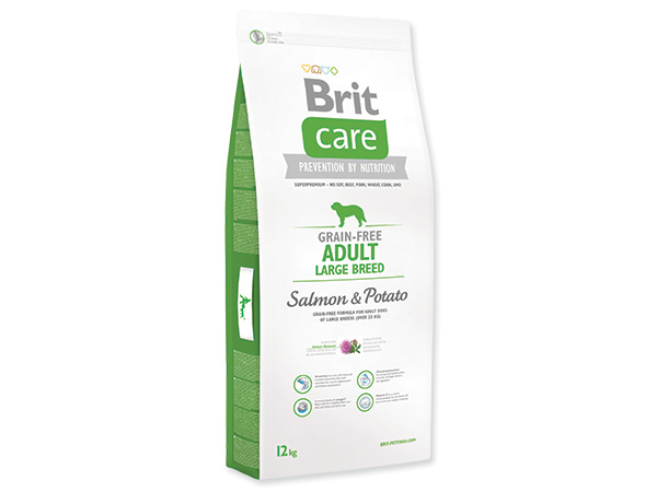 BRIT CARE GRAIN-FREE ADULT LARGE BREED SALMON & POTATO 12 KG (294-132727)