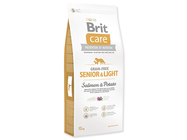 BRIT CARE GRAIN-FREE SENIOR & LIGHT SALMON & POTATO 12 KG (294-132733)