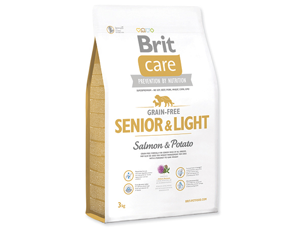 BRIT CARE GRAIN-FREE SENIOR & LIGHT SALMON & POTATO 3 KG (294-132734)
