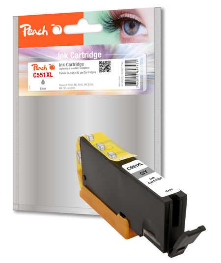 PEACH CLI-551GY XL ATRAMENT KOMPATIBILNY SEDY PI100-180 PRO CANON PIXMA MG5450 (13ML) 317744
