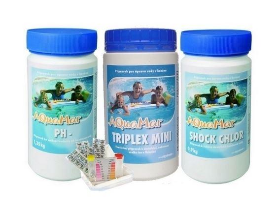MARIMEX AQUAMAR START SET CHEMICKY (SHOCK, TRIPLEX MINI, PH-, TESTER)