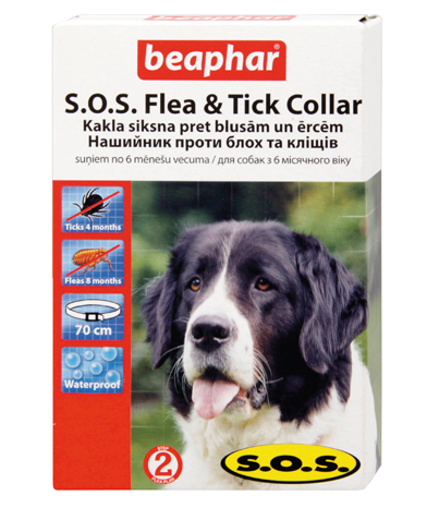 BEAPHAR SOS FLEA AND TICK ANTIPARAZITNY OBOJOK 65 CM 244124640