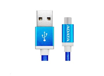 ADATA MICRO USB KABEL PLETENY 1M MODRY