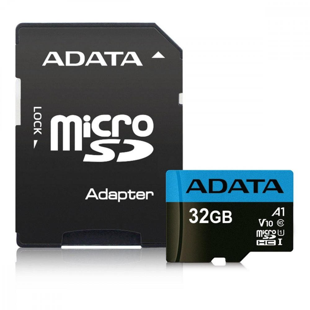 ADATA PREMIER MICROSDHC 32GB KARTA UHS-I CLASS 10, UP TO 85MB/S + ADAPTER AUSDH32GUICL10A1-RA1