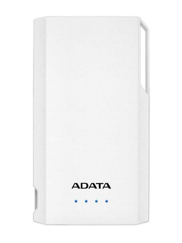 ADATA S10000 POWER BANK, 10000MAH, BIELA, AS10000-USBA-CWH