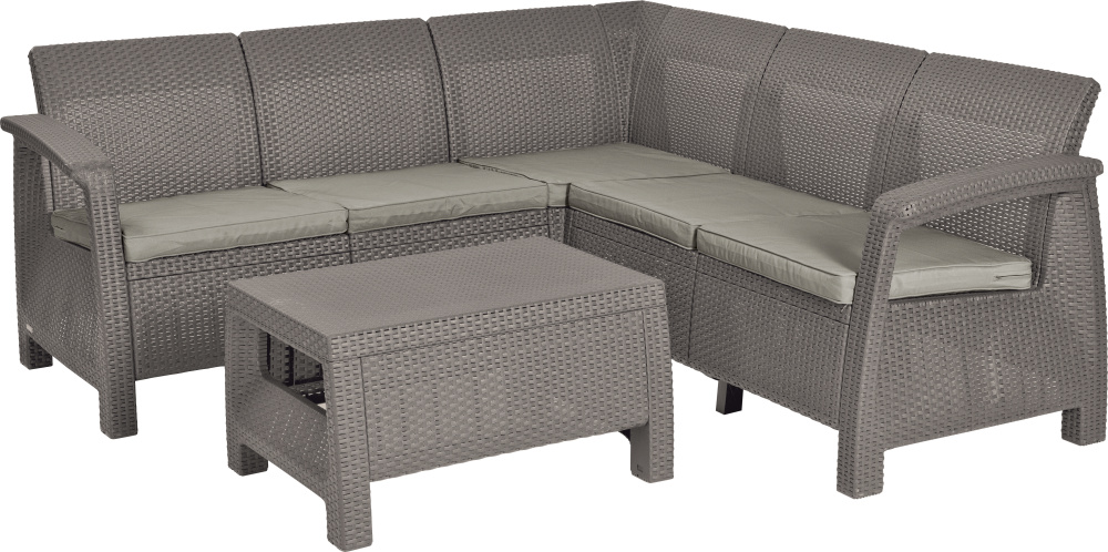 ALLIBERT 227845 CORFU RELAX SET CAPPUCCIBO SAND