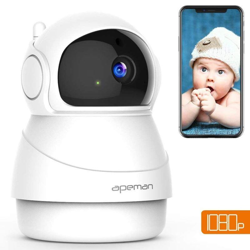 APEMAN BEZPECNOSTNA IP KAMERA ID73, 1080P FULL HD, WIFI, INDOOR, BIELA