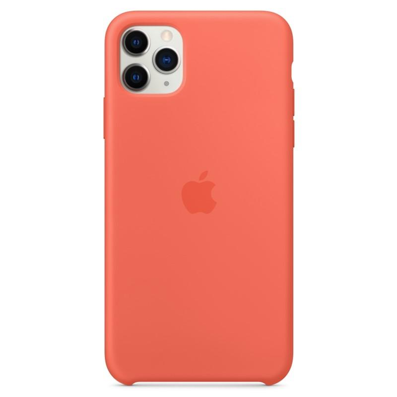 APPLE IPHONE 11 PRO MAX SILICONE CASE - CLEMENTINE ORANGE, MX022ZM/A