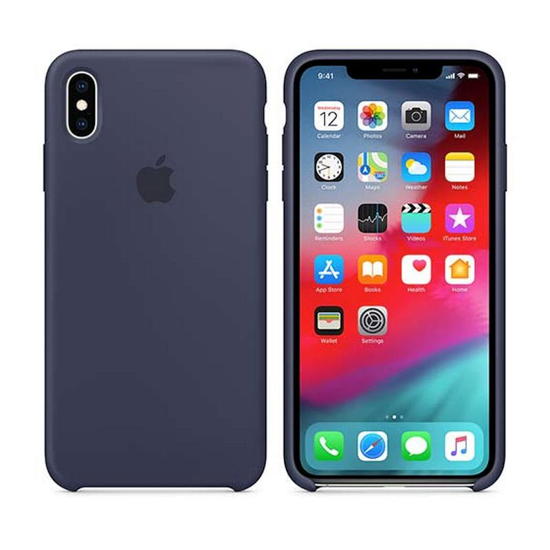 APPLE IPHONE XS MAX SILICONE CASE - MIDNIGHT BLUE, MRWG2ZM/A