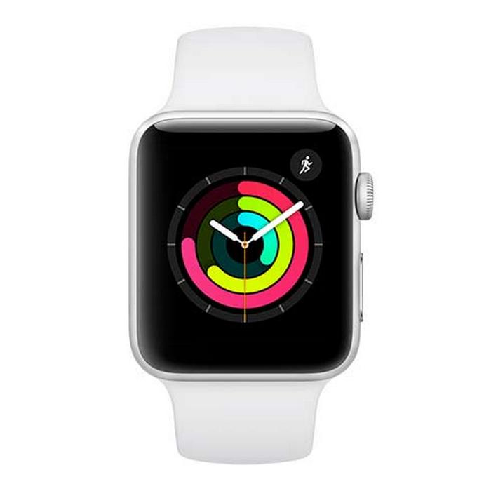 APPLE WATCH SERIES 3 GPS, 42MM SILVER ALUMINIUM CASE WITH WHITE SPORT BAND, MTF22CN/A