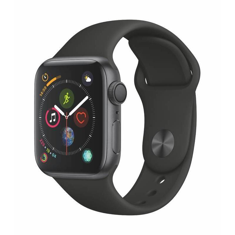 APPLE WATCH SERIES 4 GPS 40MM SPACE GREY ALUMINUM CASE WITH BLACK SPORT BAND MU662VRA