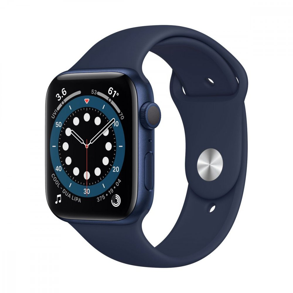 APPLE WATCH SERIES 6 GPS 40MM BLUE ALUMINIUM CASE WITH DEEP NAVY SPORT BAND MG143VRA