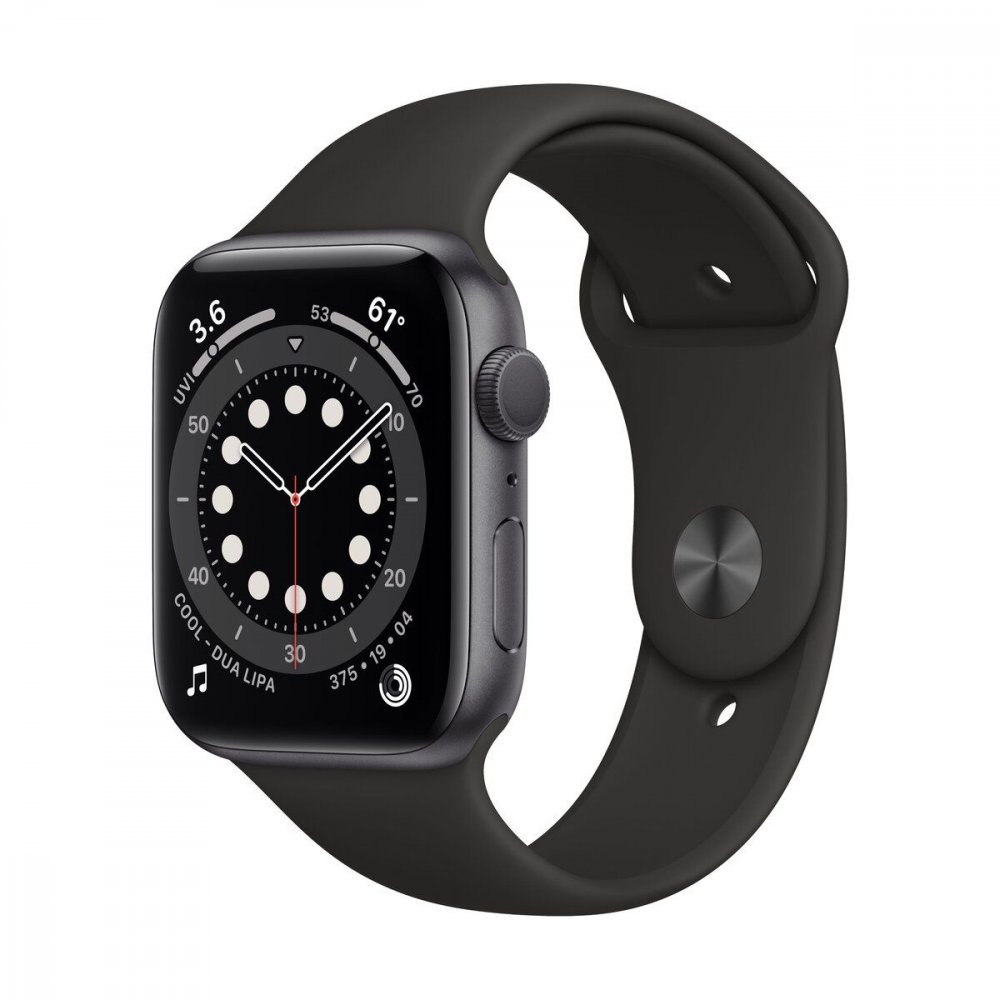 APPLE WATCH SERIES 6 GPS 40MM SPACE GRAY ALUMINIUM CASE WITH BLACK SPORT BAND MG133VRA