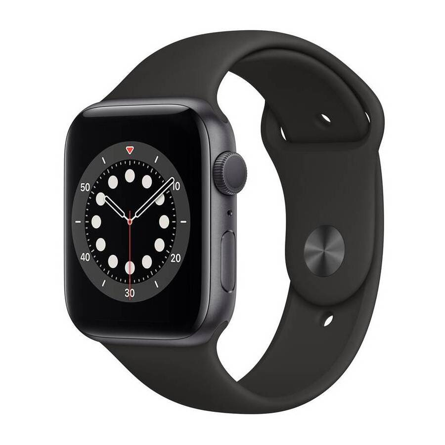 APPLE WATCH SERIES 6 GPS 44MM SPACE GRAY ALUMINIUM CASE WITH BLACK SPORT BAND M00H3HCA