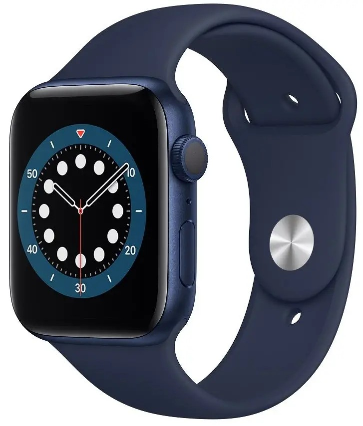 APPLE WATCH SERIES 6 GPS 44MM BLUE ALUMINIUM CASE WITH DEEP NAVY SPORT BAND  REGULAR M00J3HCA