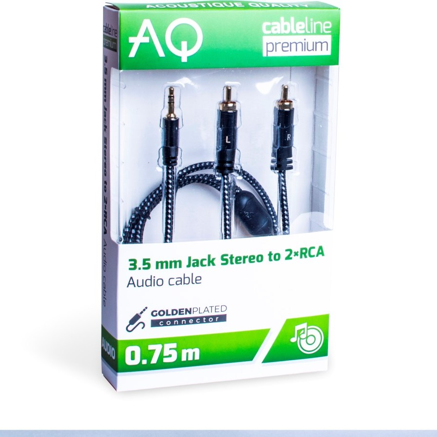 AQ PREMIUM PA42030 3,5 MM JACK 2 X RCA 3,0 M