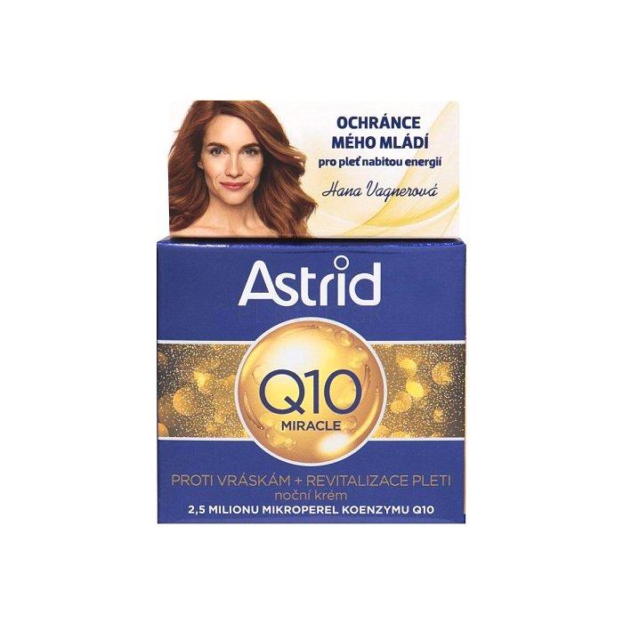ASTRID Q10 MIRACLE NOCNI KREM PROTI VRASKAM 50 ML