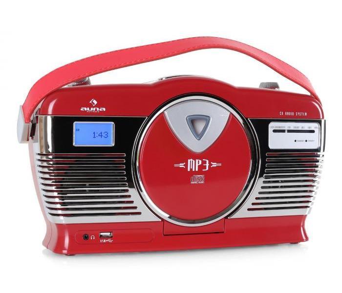 AUNA RCD-70RE, RETRO RADIO,FM, USB, CD, BATERIA, 10008986