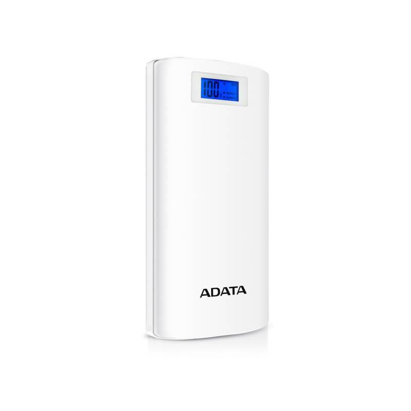 A-DATA P20000D POWER BANK, 20000MAH, LED SVIETIDLO, BIELA