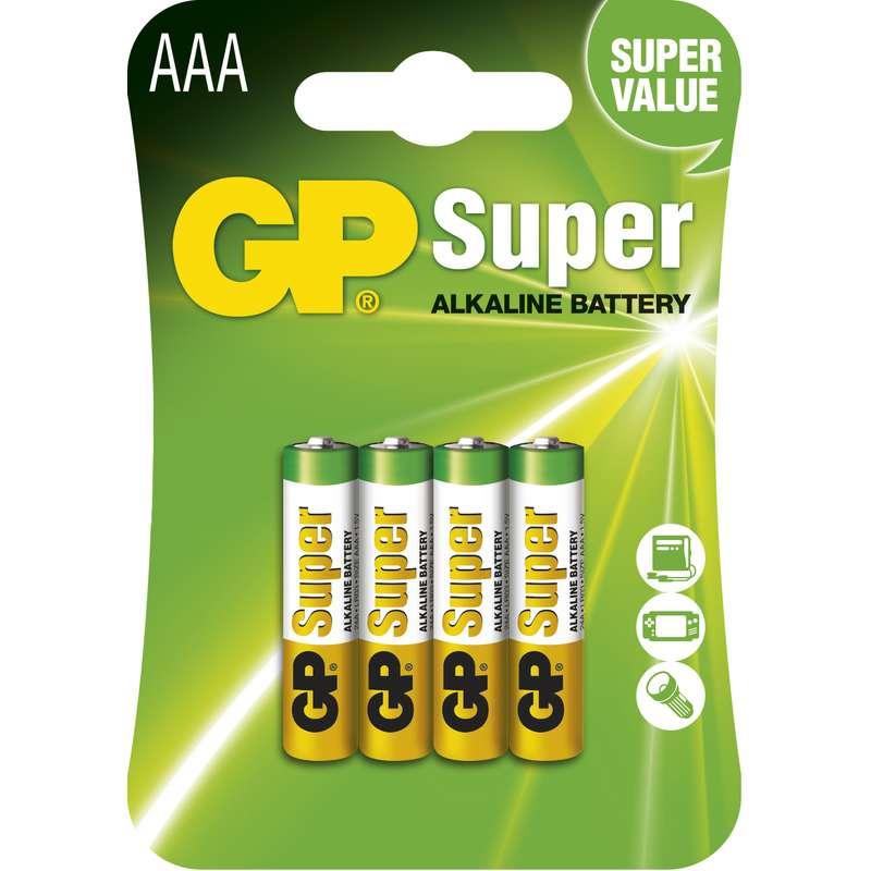 GP SUPER ALKALICKE BATERIE AAA, 4KS BLISTER, B1311