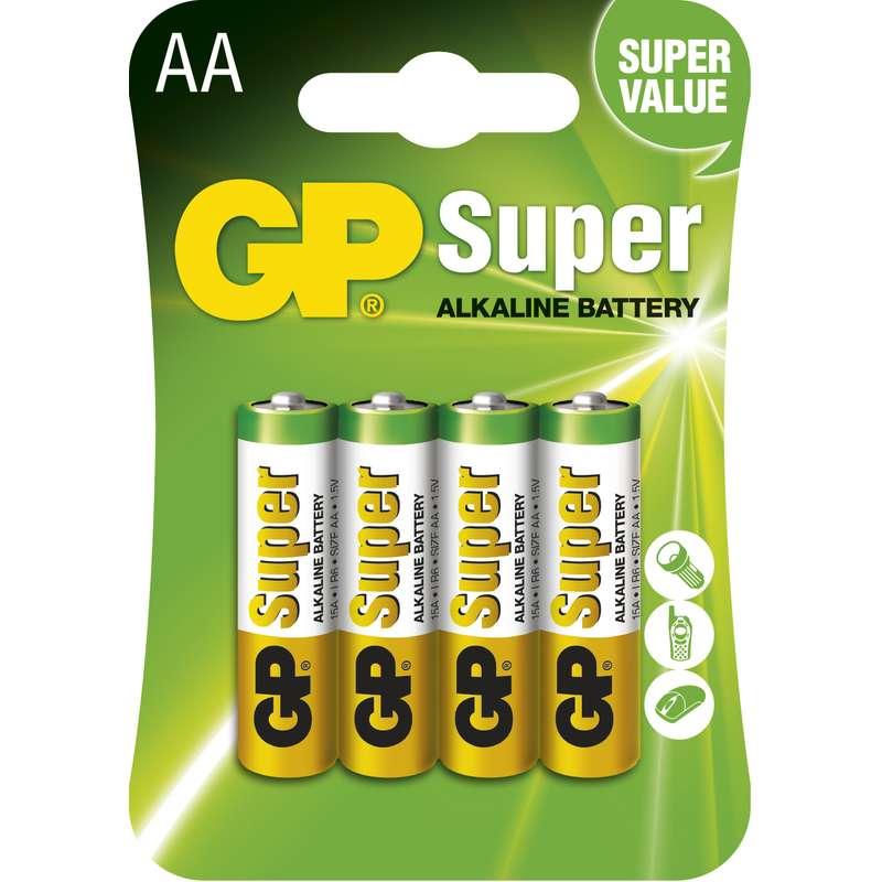 GP ALKALICKE BATERIE SUPER AA, 4KS BLISTER, B1321