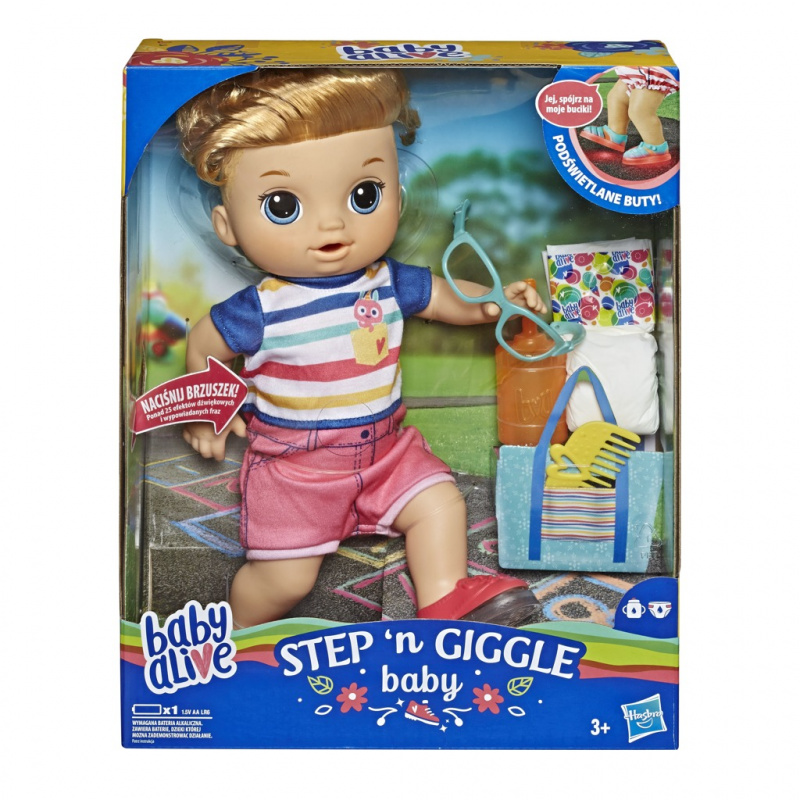 BABY ALIVE BLONDATY CHLAPEC STEP N GIGGLE 14E5244