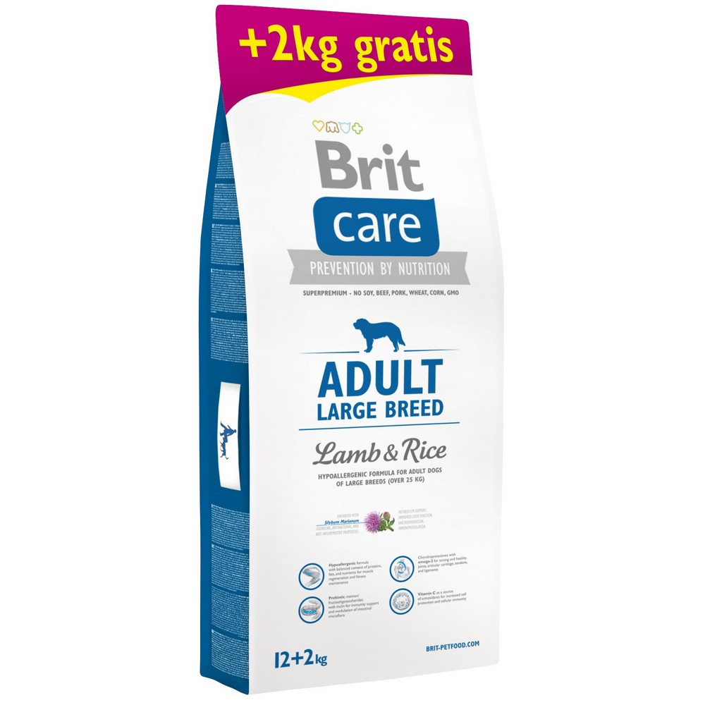 BRIT CARE ADULT LARGE BREED LAMB & RICE 12+2 KG (294-171195)