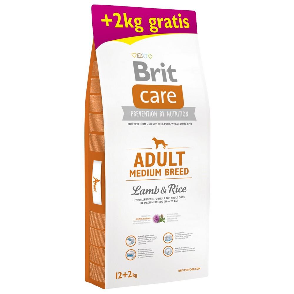 BRIT CARE ADULT MEDIUM BREED LAMB & RICE 12+2 KG (294-171196)