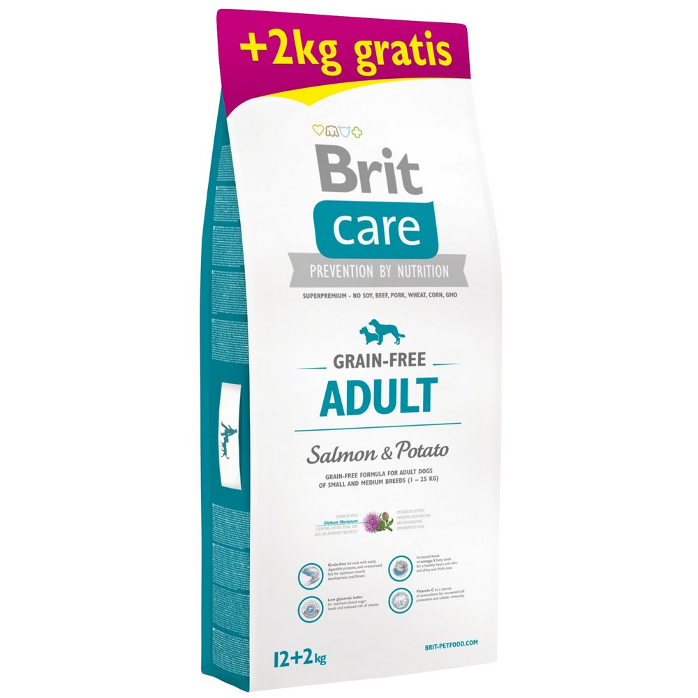 BRIT CARE GRAIN-FREE ADULT SALMON & POTATO 12+2 KG (294-170693)