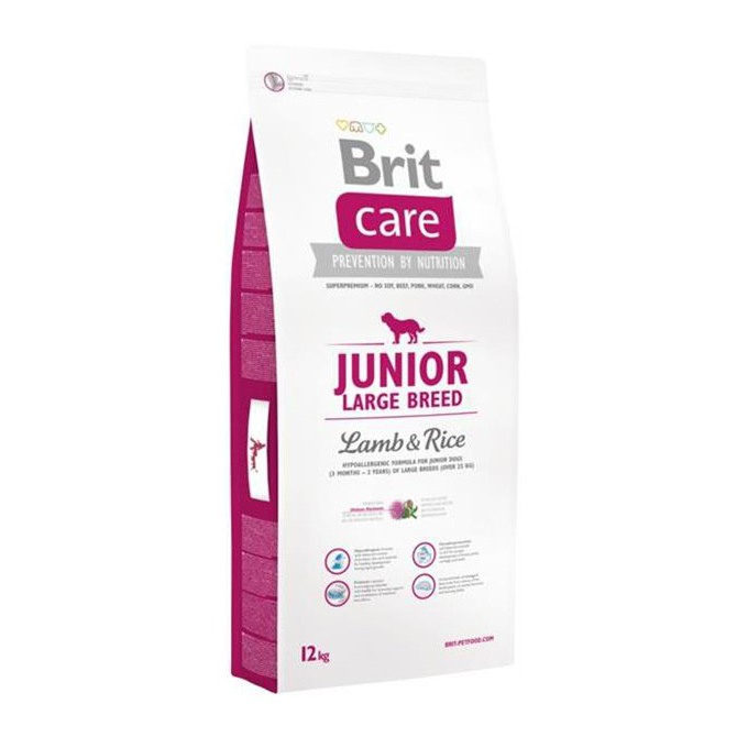 BRIT CARE JUNIOR LARGE BREED LAMB & RICE 12 KG (294-132703)