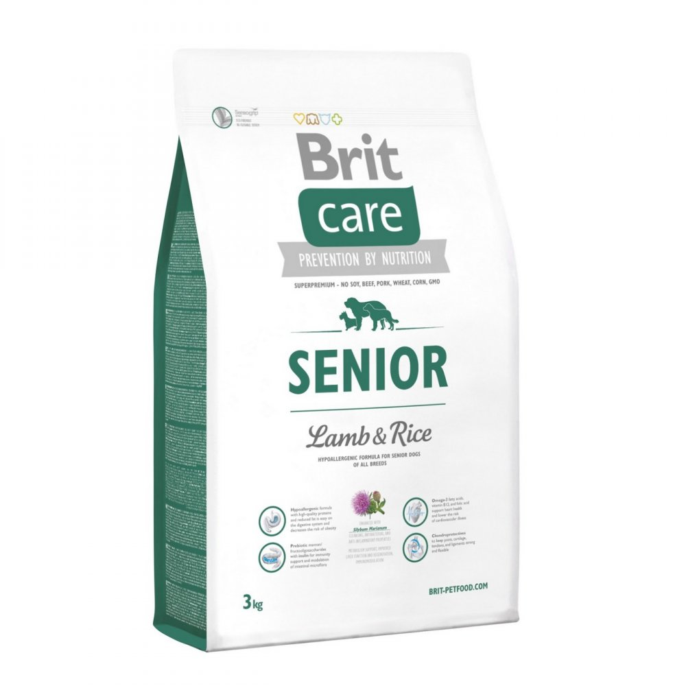 BRIT CARE SENIOR LAMB & RICE 3 KG (294-132716)