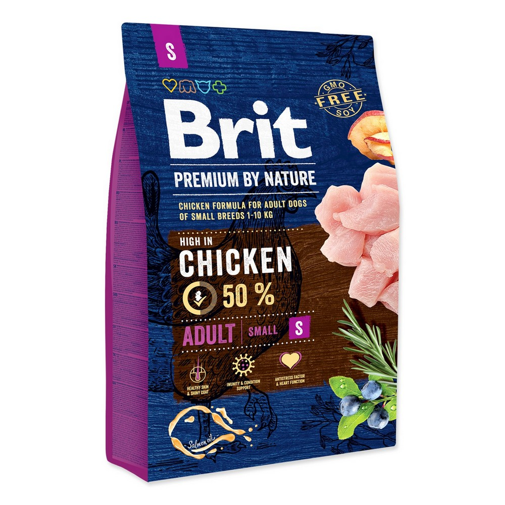 BRIT PREMIUM BY NATURE ADULT S 3 KG (294-170810)