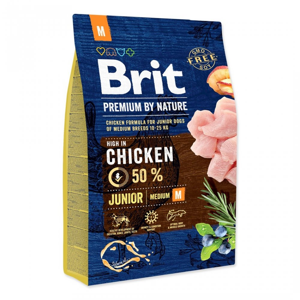 BRIT PREMIUM BY NATURE JUNIOR M 3 KG (294-170813)