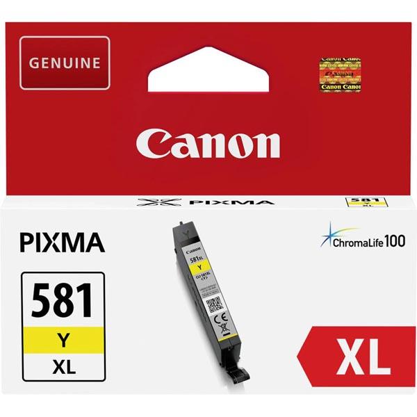CANON CLI581Y XL ORIGINAL INK, YELLOW, 8.3ML, 2051C001