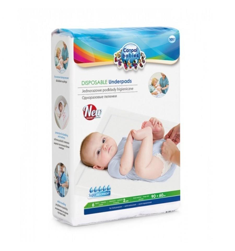 CANPOL BABIES JEDNORAZOVE ABSORPCNE HYGIENICKE PODLOZKY 10 KS