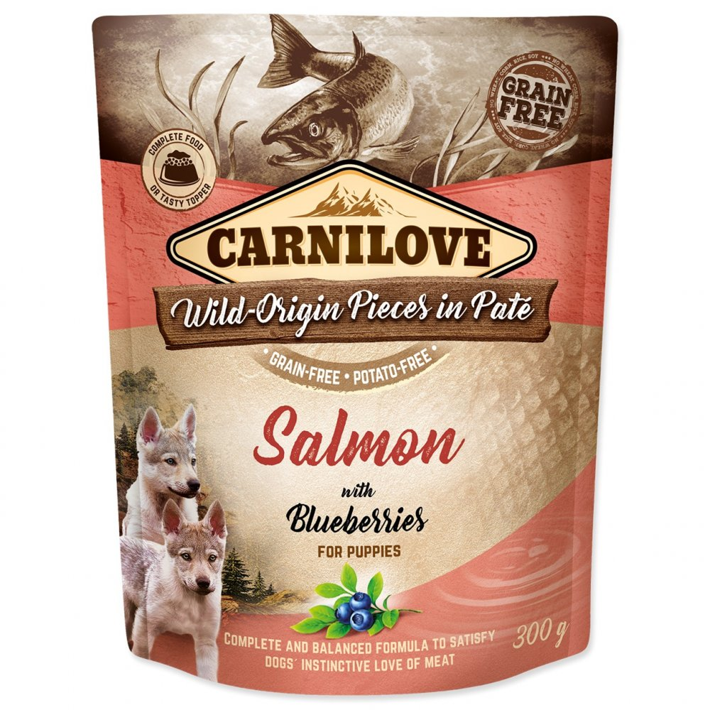 CARNILOVE PUPPY PATE SALMON WITH BLUEBERRIES 300G (294-111699)
