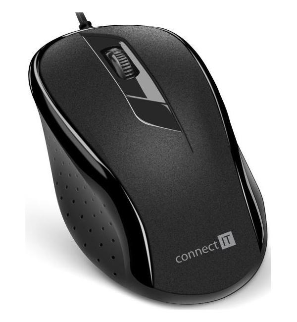 CONNECT IT OPTICKA MYS, ERGONOMICKA, USB, CIERNA, CMO-1200-BK